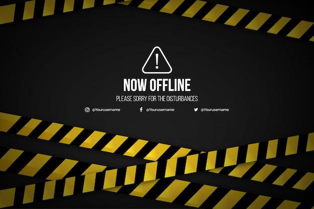 Realistische offline twitch-sjabloon voor spandoek als achtergrond