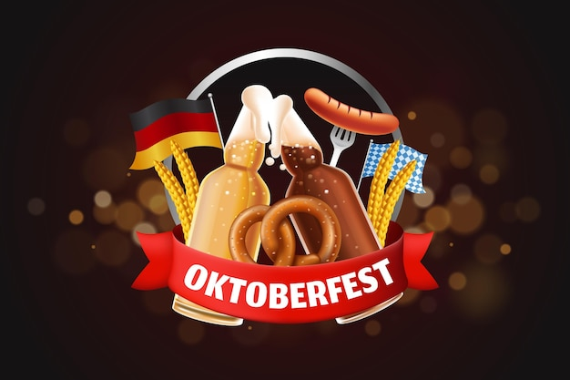Realistische oktoberfest-achtergrond