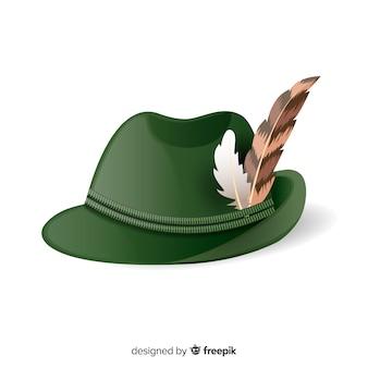 Realistische oktoberfest hoed met een pluim