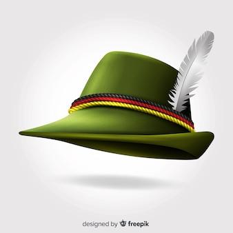 Realistische oktoberfest hoed met pluim