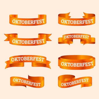 Realistische oktoberfest lintencollectie