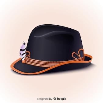 Realistische oktoberfest traditionele hoed