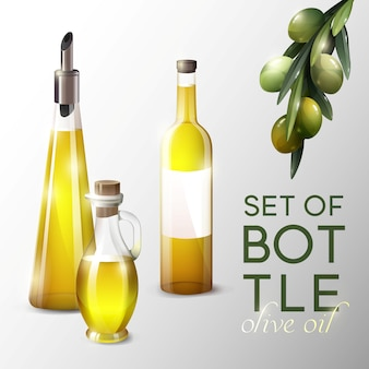 Realistische olijfolie sjabloon