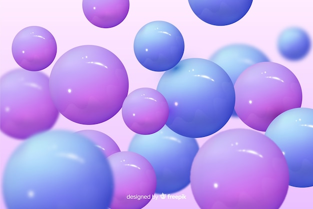 Realistische ontwerp glanzende plastic ballen achtergrond