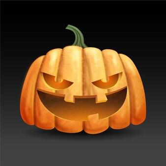 Realistische ontwerp halloween pompoen