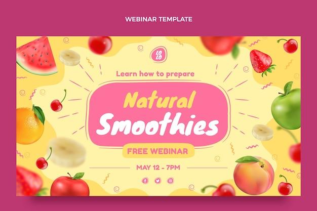 Realistische ontwerpsjabloon voor voedselwebinar