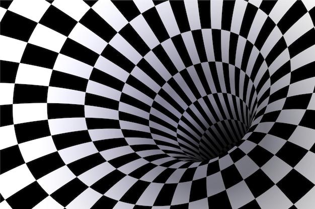 Realistische optische illusie achtergrond