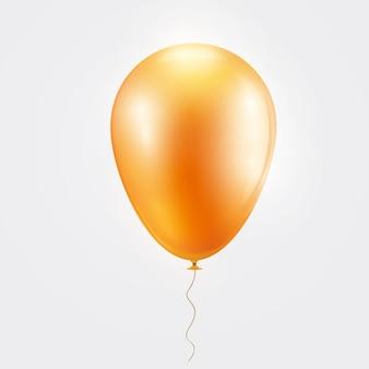 Realistische oranje ballon