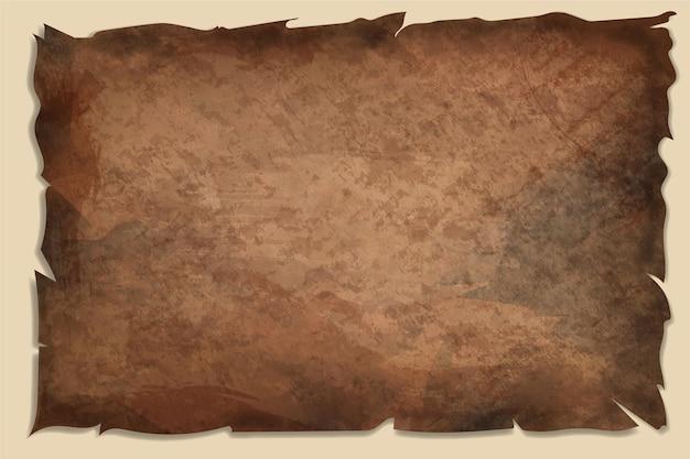 Realistische oud papier textuur met lege ruimte