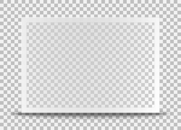 Realistische oude fotolijst geïsoleerd op transparante achtergrond.