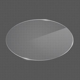 Realistische ovale vorm glazen frame