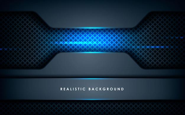 Realistische overlappende laagentextuur met blauwe lichten