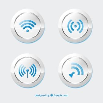 Realistische pak wifi knoppen
