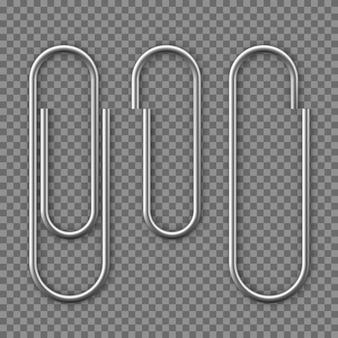 Realistische paperclip pictogram.