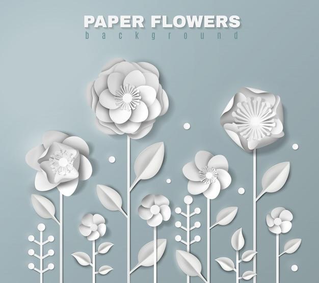 Realistische papieren bloemen