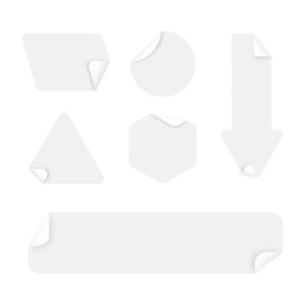 Realistische papieren stickercollectie