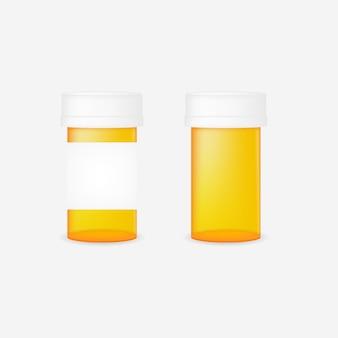 Realistische pil fles