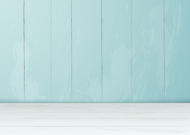 Realistische plank muur houten vloer kamer interieur lege achtergrond