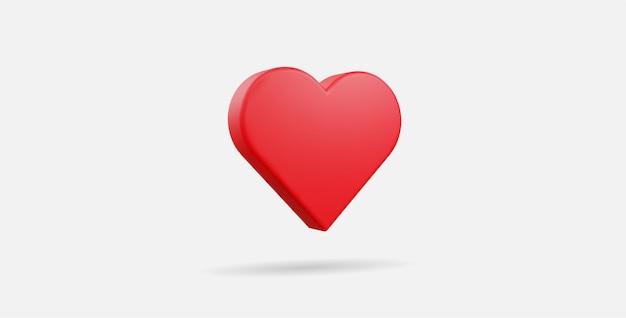 Realistische platte hart vectorillustraties. 3d-stijl.