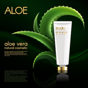 Realistische poster van het natuurlijke cosmetische product