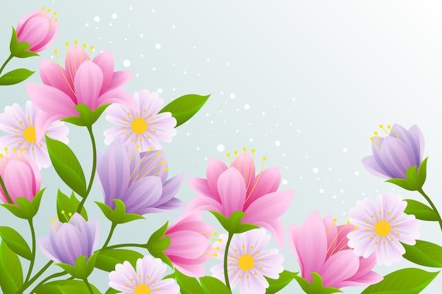 Realistische prachtige lente achtergrond