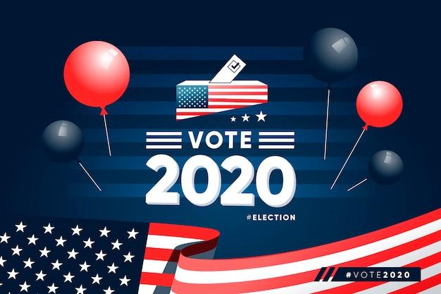 Realistische presidentsverkiezingen in 2020 in de vs.
