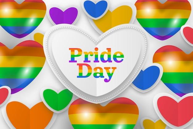 Realistische pride-dag illustratie