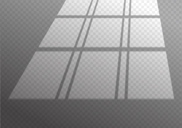 Realistische raamverlichting, schaduw-overlay-effecten van het raam, natuurlijke verlichting.