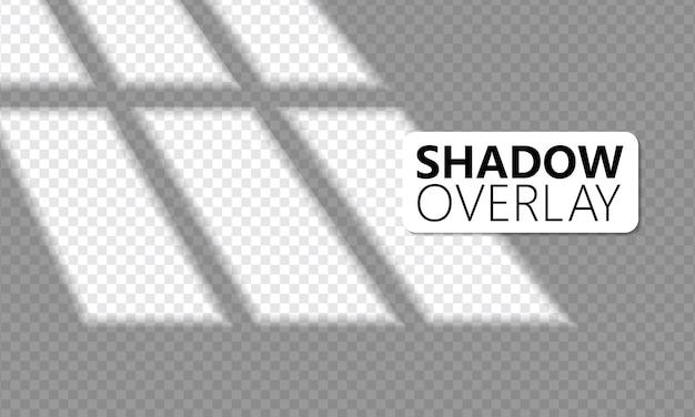 Realistische raamverlichting, zonlicht, transparante overlay-schaduweffecten.