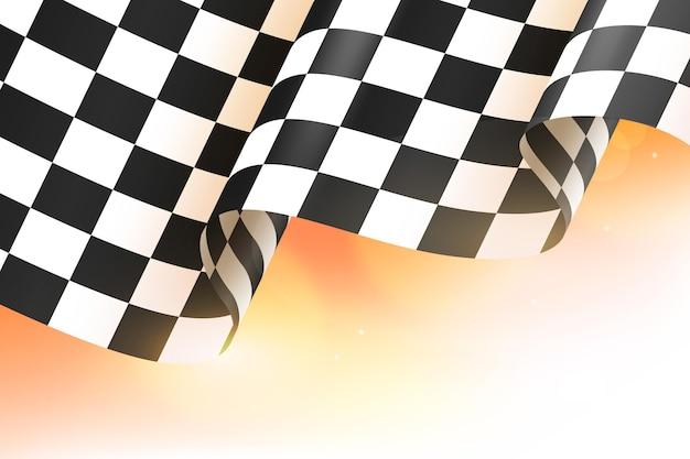 Realistische race geruite vlag achtergrond