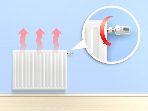 Realistische radiatorillustratie