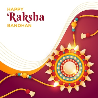 Realistische raksha bandhan-illustratie