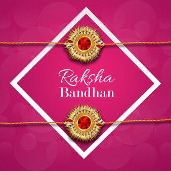 Realistische raksha bandhan met creatieve rakhi