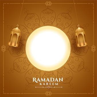 Realistische ramadan kareem-groet