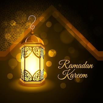 Realistische ramadan kareem-illustratie