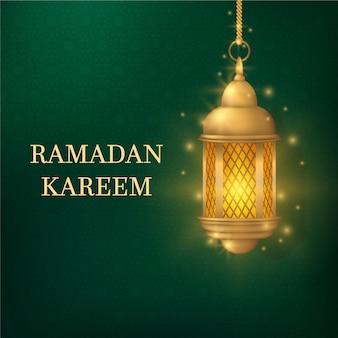 Realistische ramadan met lantaarn