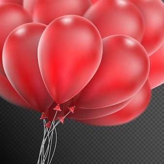 Realistische rode ballonnen.