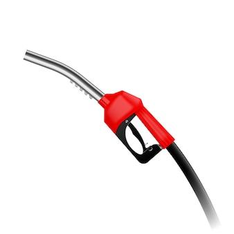 Realistische rode brandstof haan illustratie