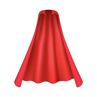 Realistische rode cape voor vampier of superheld kostuum gezien vanuit vooraanzicht