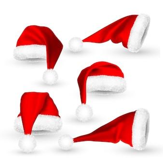 Realistische rode kerstman hoed