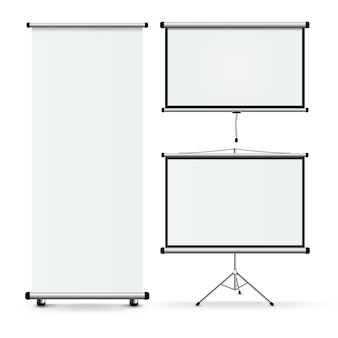 Realistische roll stands set