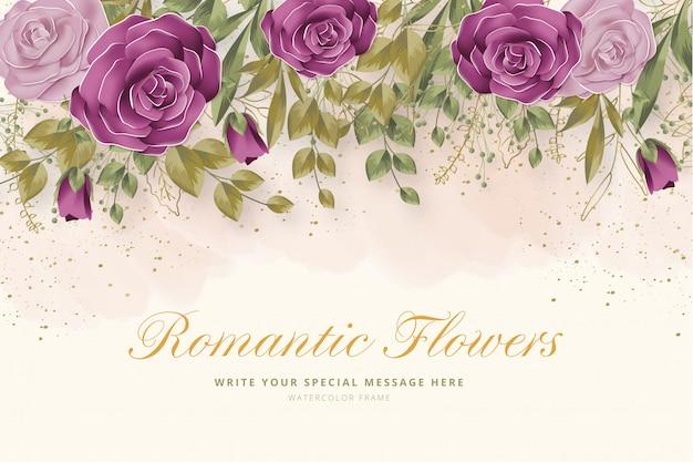 Realistische romantische bloemen achtergrond