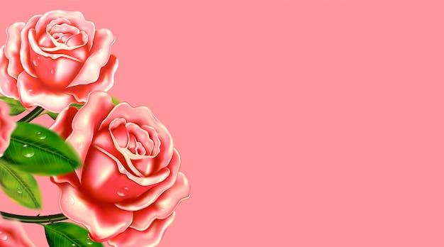 Realistische roos achtergrond