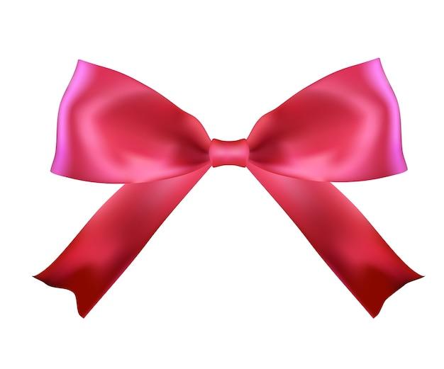 Realistische roze zijden strik