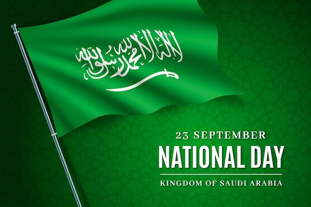 Realistische saoedische nationale feestdag achtergrond