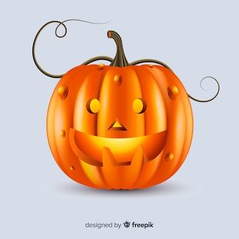 Realistische schattige halloween-pompoen