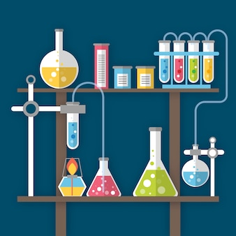 Realistische science lab-objecten