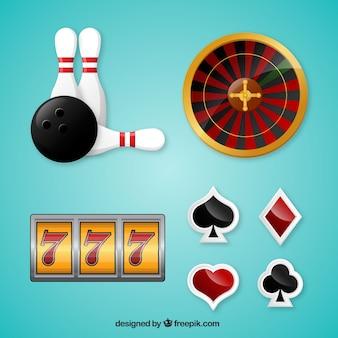 Realistische selectie van casino-elementen