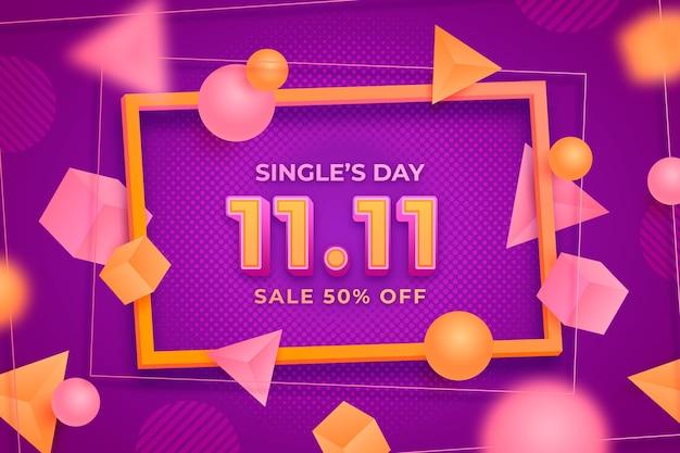 Realistische single's day-achtergrond