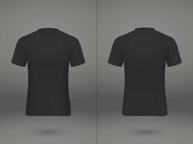 Realistische sjabloon jersey voetbalt-shirt op de winkel